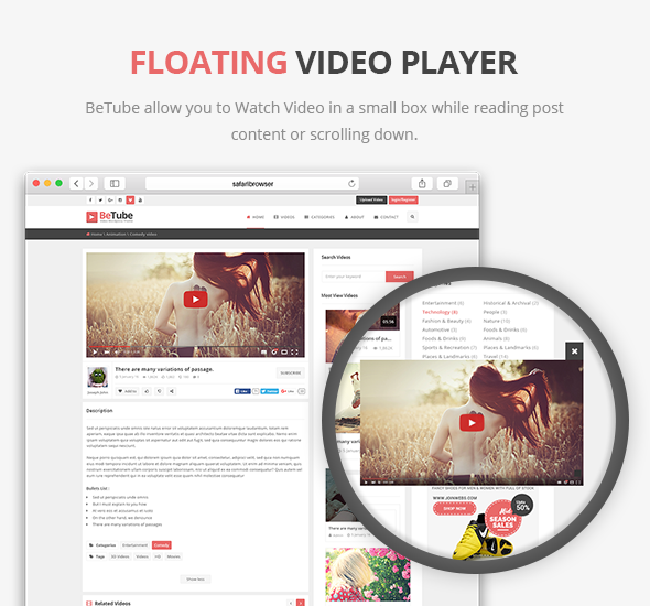 Floating Video Player