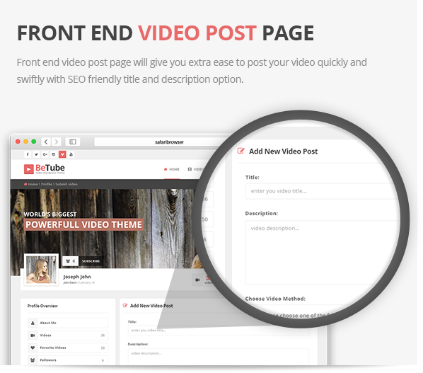 Video Post Page